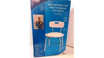 Siège de baignoire et de douche réglable avec dossier Carex