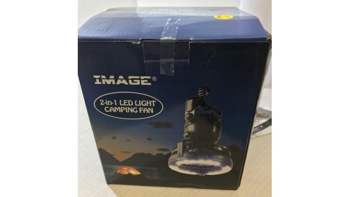 Lampe de camping 2-en-1 18 LED et ventilateur de plafond