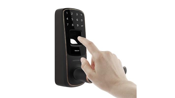 Serrure de porte intelligente Keyless Ultraloq UL3 à empreinte digitale et à écran tactile (bronze vieilli)