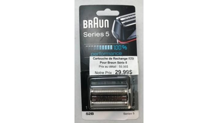 Cartouche de rechange 52B pour rasoir Braun