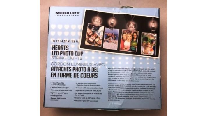 Cordon lumineux Merkury avec attache-photo à DEL multicolore