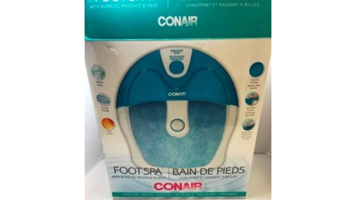 Bain de pieds chauffant et massant à bulles Conair