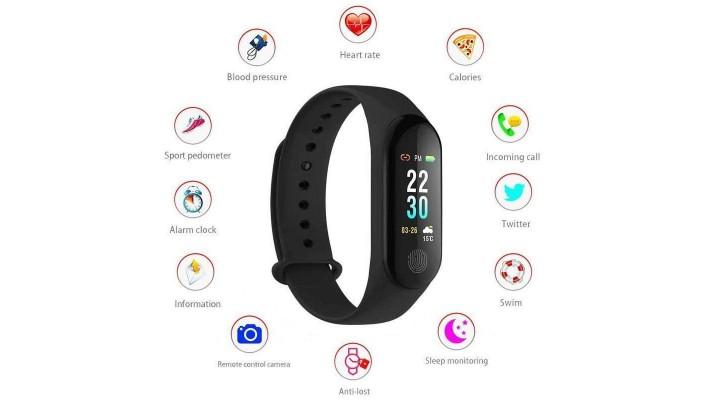 Bracelet intelligent de fitness sport de pression artérielle