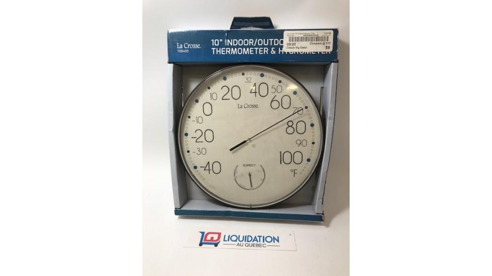 """Thermomètre et Hygromètre 10"""" pour l'intérieur ou l'extérieur La Cross"""