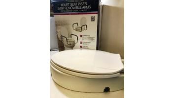 Drive Medical - Rehausseur de siège de toilettes avec accoudoirs amovibles