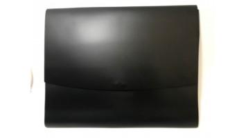Portefeuille en cuir avec fermeture à pression