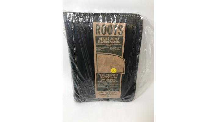 Portfolio à anneaux avec bloc-notes Noir Roots