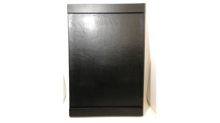 Sous-main avec rebords de côté en cuir noir Royce New York