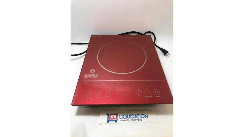 Cook's Companion® 1500W Cuisinière à induction programmable en verre rouge