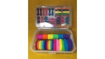 Ensemble d'accessoires à cheveux colorés