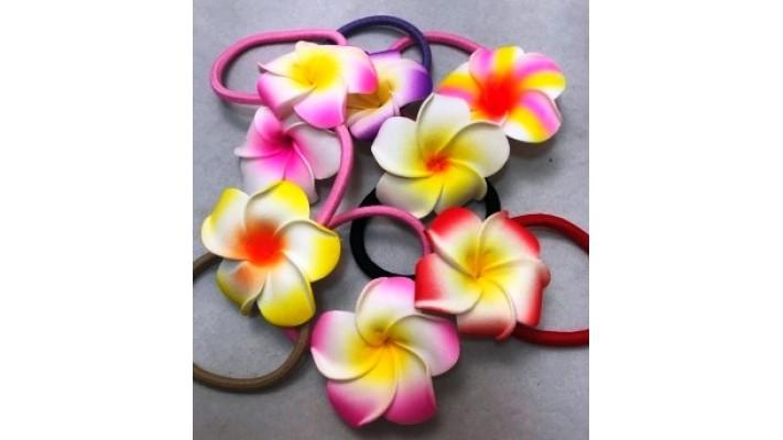 Élastiques à cheveux à motif floral